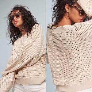 Anthropologie Moth Reese Kimono Cream Sweater